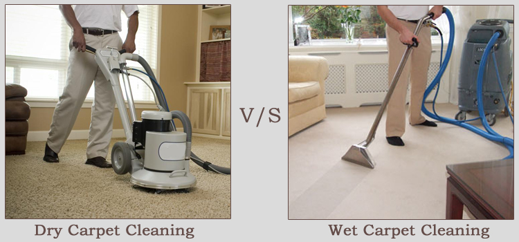 Dry vs.Wet Carpet Cleaning